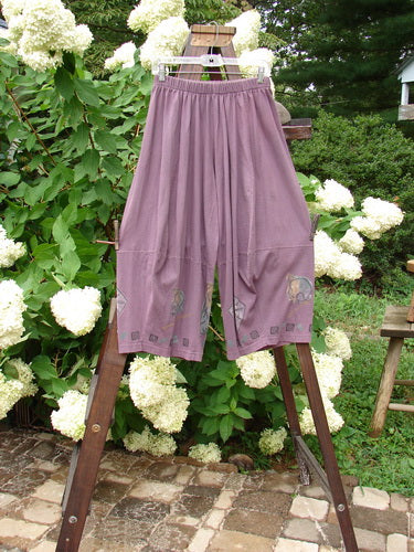 Vintage Blue Fish Clothing 1994 4 Square Pant Forest Plum Wine Size 1- Bluefishfinder.com