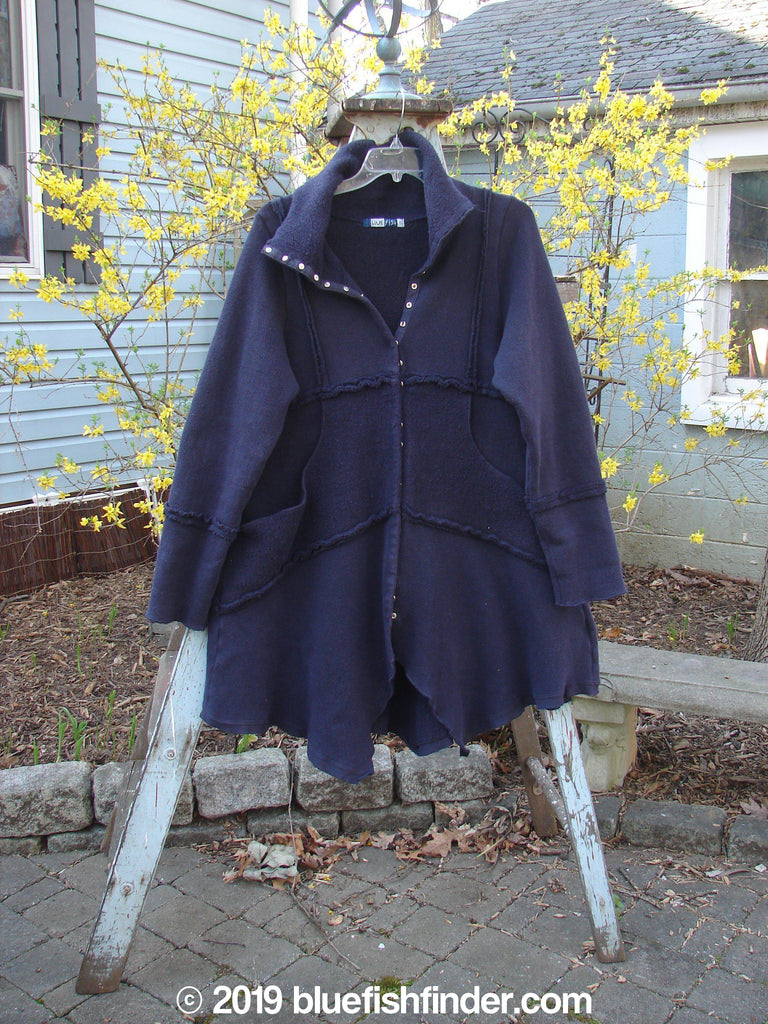 Vintage Blue Fish Clothing Barclay Celtic Moss Snap Collar Jacket Black Size 0- Bluefishfinder.com