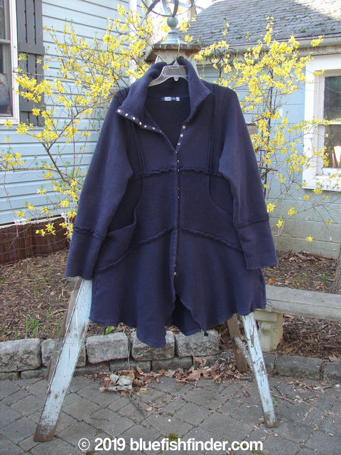 Vintage Blue Fish Clothing Barclay Celtic Moss Snap Collar Coat Black Size 0- Bluefishfinder.com