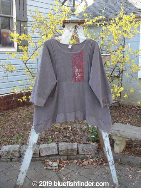 Vintage Blue Fish Clothing Barclay Patched Crepe Perennial Tunic Mushroom Size 0- Bluefishfinder.com