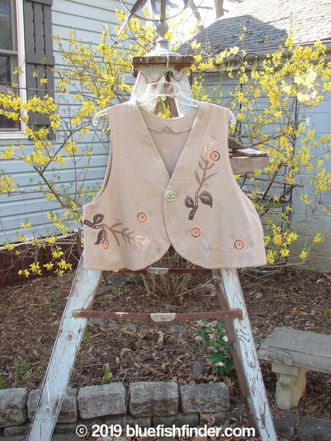 Vintage Blue Fish Clothing 1997 Troubadour Vest Leaf Branch Wheat Size 1- Bluefishfinder.com
