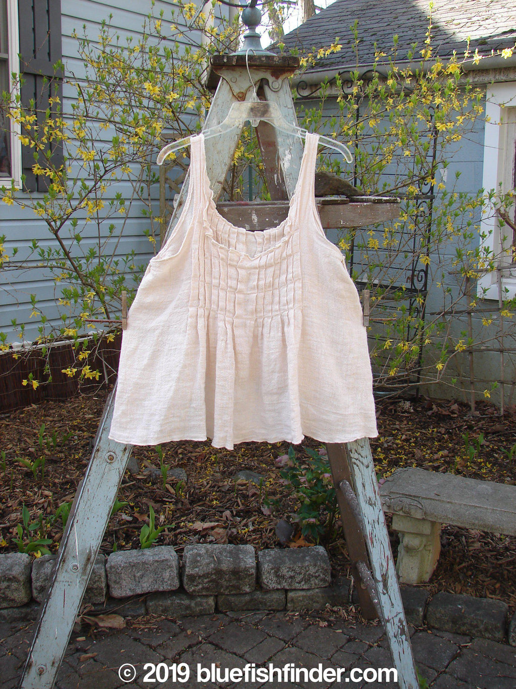 Vintage Blue Fish Clothing Magnolia Pearl Muslin Crop Top Pale Peach OS- Bluefishfinder.com
