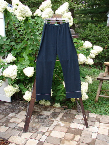 Vintage Blue Fish Clothing Barclay Cotton Hemp Banded Straight Pant Black Size 2- Bluefishfinder.com