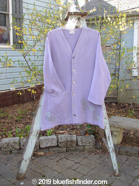 Vintage Blue Fish Clothing 2000 Café Top Twilight Curl Flower Size 1- Bluefishfinder.com