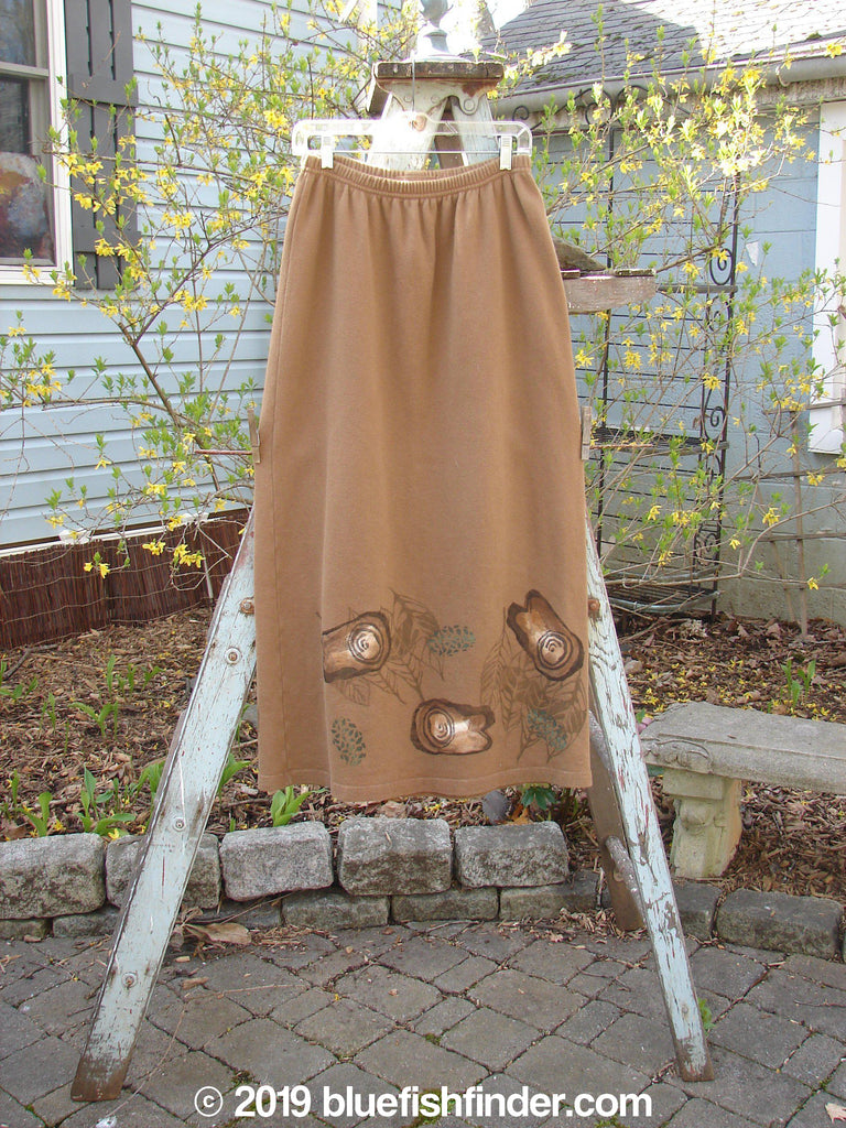 Vintage Blue Fish Clothing 1998 Berber Straight Skirt Step Stone Oak Size 1- Bluefishfinder.com