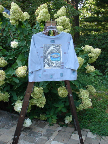 Vintage Blue Fish Clothing 1990 Long Sleeved Roundneck T Soup Steel Blue OSFA- Bluefishfinder.com