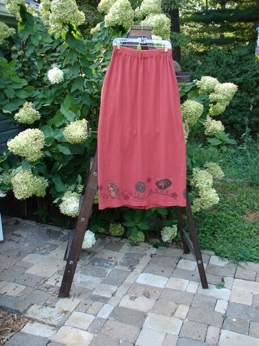 Vintage Blue Fish Clothing 1995 Memory Skirt Red Glaze Leaf Wind Size 2- Bluefishfinder.com