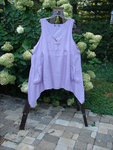 Vintage Blue Fish Clothing Barclay Linen Tuesday's Dress Unpainted Lilac Size 2- Bluefishfinder.com