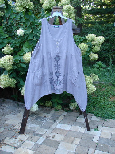 Vintage Blue Fish Clothing Barclay Linen Tuesday's Dress Majestic Petal Grey Stone Size 2- Bluefishfinder.com