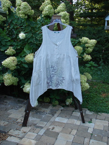 Vintage Blue Fish Clothing Barclay Linen Tuesday's Dress Majestic Fern Seagrass Size 2- Bluefishfinder.com