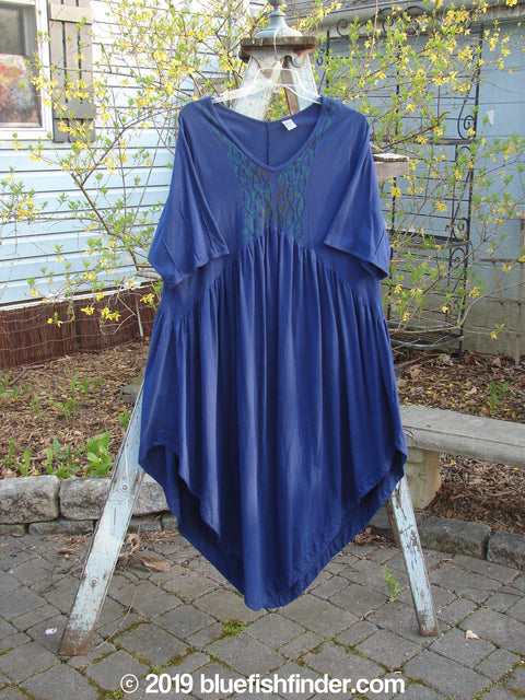 Vintage Blue Fish Clothing Barclay Short Sleeved Dubuffet Dress Fence Royal Blue Size 0- Bluefishfinder.com