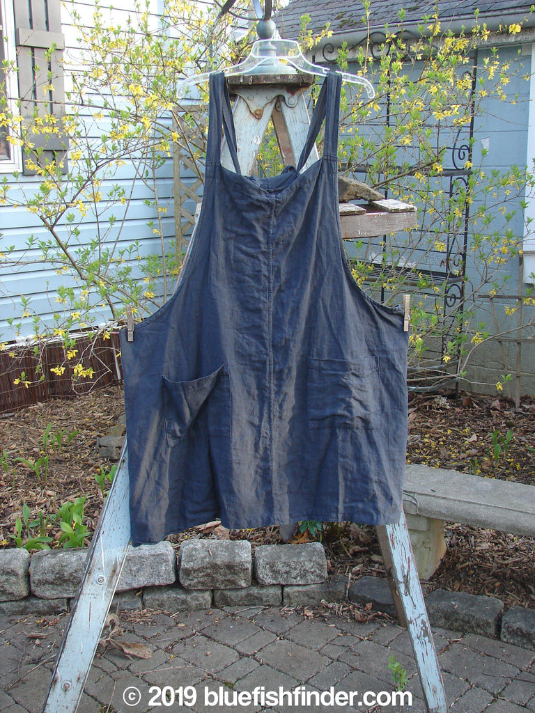 Vintage Blue Fish Clothing Barclay Linen Four Pocket Apron Deep Navy Size 1- Bluefishfinder.com