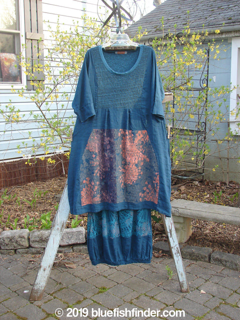 Vintage Blue Fish Clothing Barclay Bib Pleat Dress Promenade Skirt Duo Deep Teal Size 0 1- Bluefishfinder.com