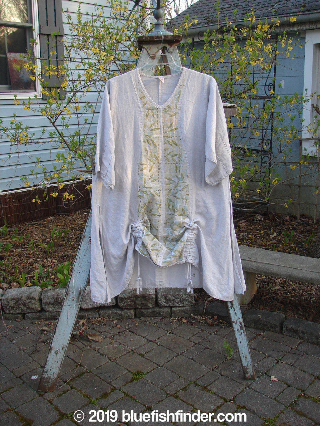 Vintage Blue Fish Clothing Barclay Venetian Tunic Bamboo Natural Size 1- Bluefishfinder.com