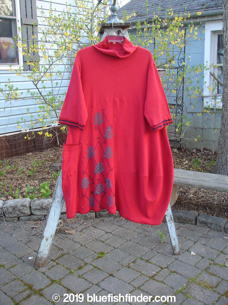 Vintage Blue Fish Clothing Barclay Thermal Turtleneck Parlor Dress True Red Size 1- Bluefishfinder.com