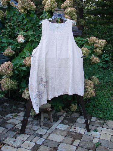 Vintage Blue Fish Clothing Barclay Linen Pinch Shift Pinafore Butterfly Sand Size 2- Bluefishfinder.com