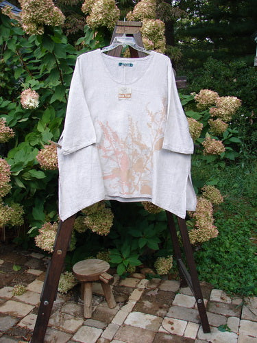 Vintage Blue Fish Clothing Barclay NWT Linen Boxy Vent Top Branch Field Natural Size 2- Bluefishfinder.com