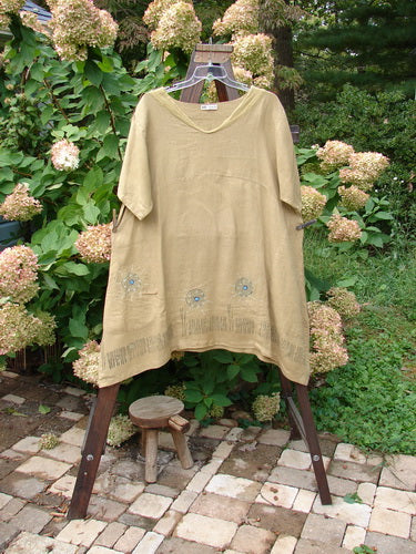 Vintage Blue Fish Clothing Barclay Linen Sailor Urchin Dress Sun Grass Dried Mustard Size 2- Bluefishfinder.com