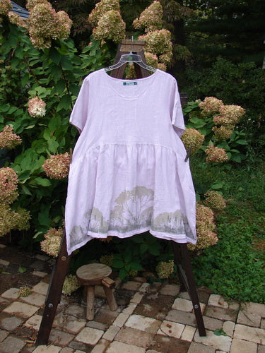 Vintage Blue Fish Clothing Barclay Linen Studio Cardigan Scenic Tree Lilac Size 2- Bluefishfinder.com