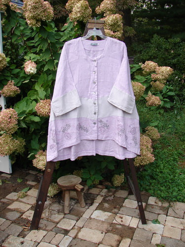 Vintage Blue Fish Clothing Barclay Wonderland Sectional Banded Cardigan Tiny Flower Lavender Size 2- Bluefishfinder.com