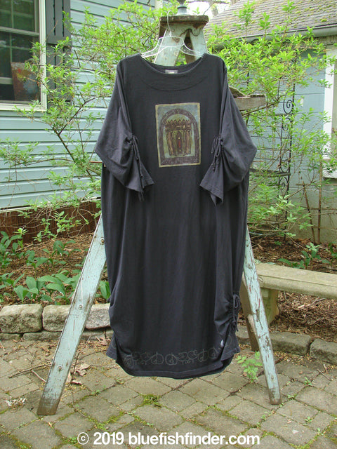 Vintage Blue Fish Clothing 1999 Starlight Dress Celtic Candle Raven Size 2- Bluefishfinder.com