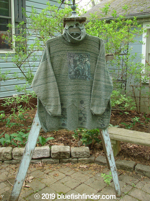 Vintage Blue Fish Clothing 1994 Long Sleeved Turtleneck Sweater Green Mélange Size 2- Bluefishfinder.com