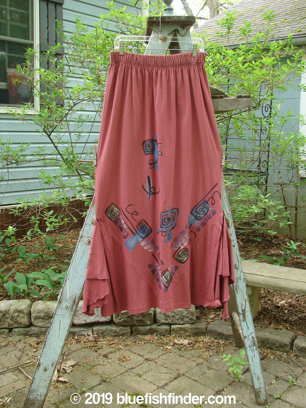 Vintage Blue Fish Clothing 1996 Dubuffet Skirt Fall Wood Ember Size 2- Bluefishfinder.com