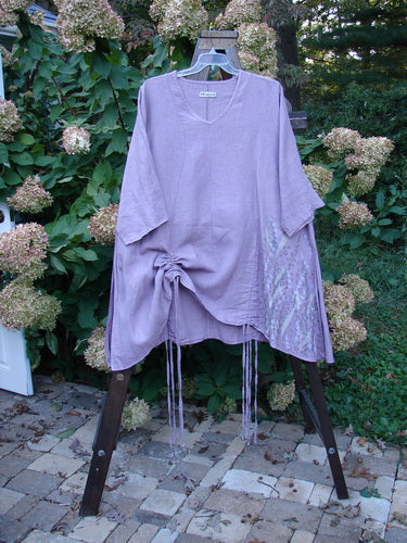 Vintage Blue Fish Clothing Barclay Linen Venetian Tunic Tall Grass Lavender Size 2- Bluefishfinder.com