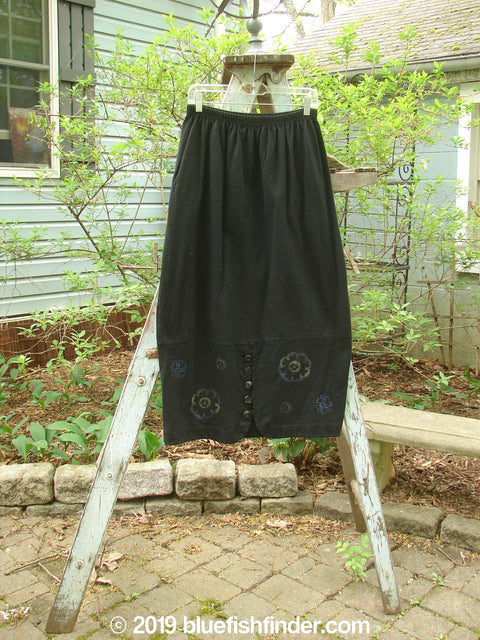 Vintage Blue Fish Clothing 1997 Indra Skirt Holiday Floral Obsidian Size 1- Bluefishfinder.com