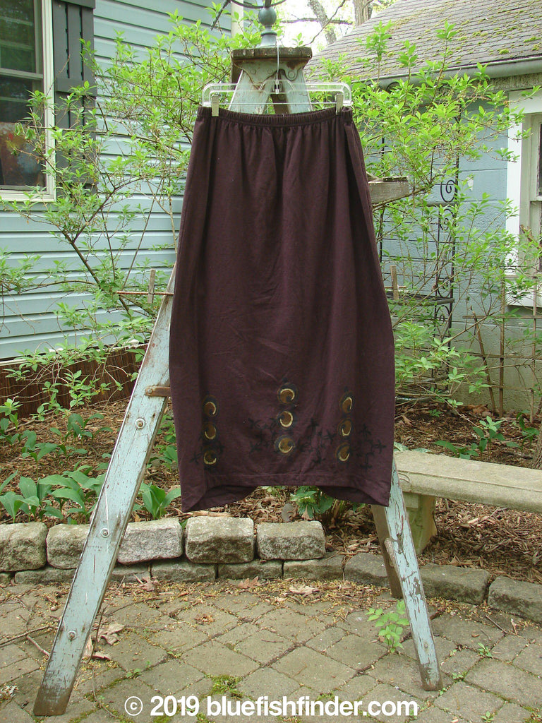 Vintage Blue Fish Clothing 1999 Winter Skirt Holiday Deep Burgundy Size 2- Bluefishfinder.com