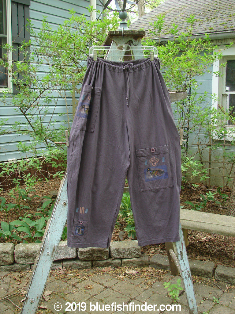 Vintage Blue Fish Clothing 1996 Seed Planting Pant Love Dove Violet Field Size 1- Bluefishfinder.com