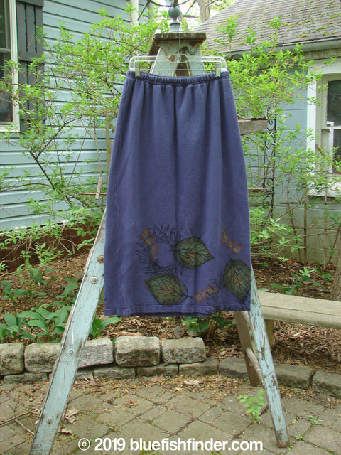 Vintage Blue Fish Clothing 1998 Berber Straight Skirt Giant Leaf Amaranth Size 2- Bluefishfinder.com
