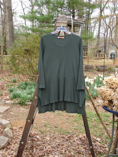 Vintage Blue Fish Clothing Barclay Thermal Shirttail Box Tunic Unpainted Forest Teal Size 1- Bluefishfinder.com