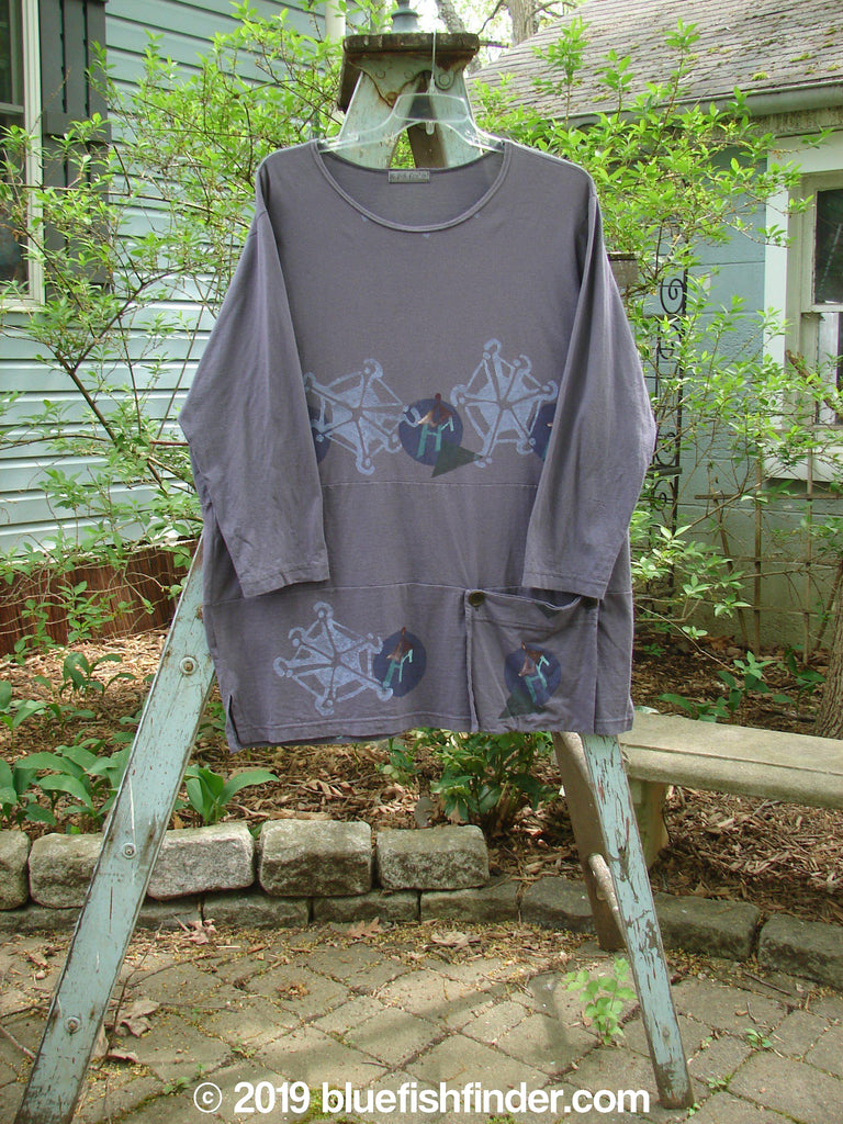 Vintage Blue Fish Clothing 1996 Gatherer's Tunic Stone Purple Martin Size 2- Bluefishfinder.com