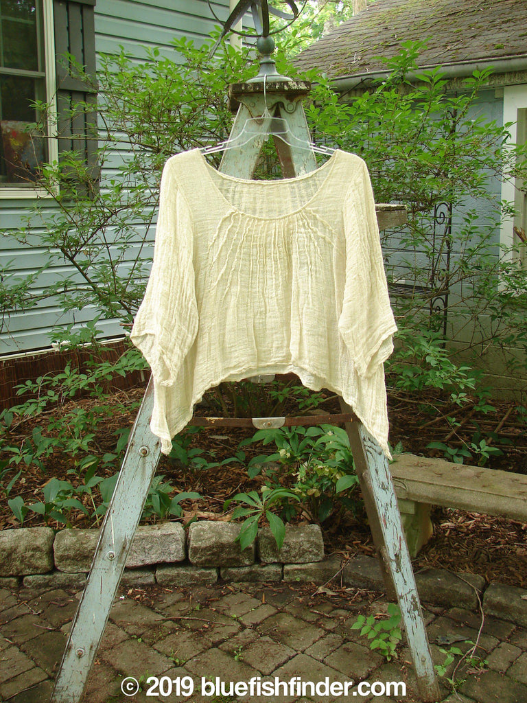 Vintage Blue Fish Clothing Magnolia Pearl Gauze Sun Ray Top Creme OS- Bluefishfinder.com