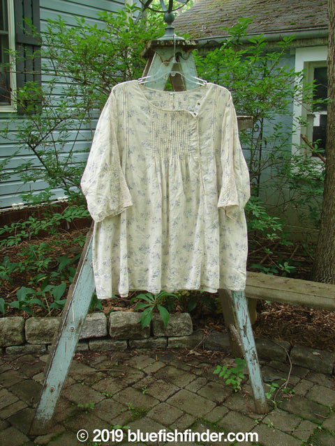 Vintage Blue Fish Clothing Magnolia Pearl Cotton Snap Collar Tunic Floral OS- Bluefishfinder.com