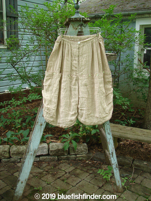 Vintage Blue Fish Clothing Magnolia Pearl Pucker Linen Bushel Crop Bloomer Natural Stripe OS- Bluefishfinder.com