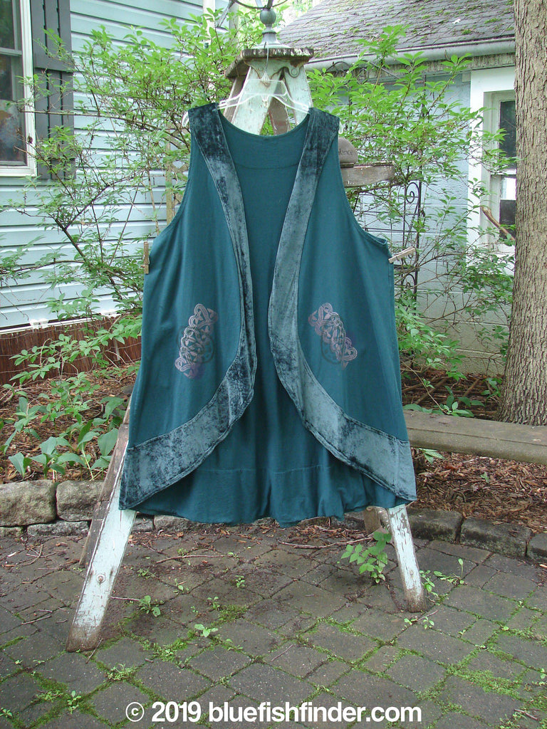 Vintage Blue Fish Clothing 1996 Crescent Vest Celtic Viridian Size 2- Bluefishfinder.com