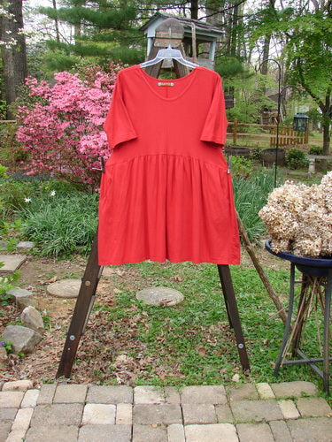 Vintage Blue Fish Clothing Barclay Studio Boxcar Dress Unpainted Real Red Size 1- Bluefishfinder.com