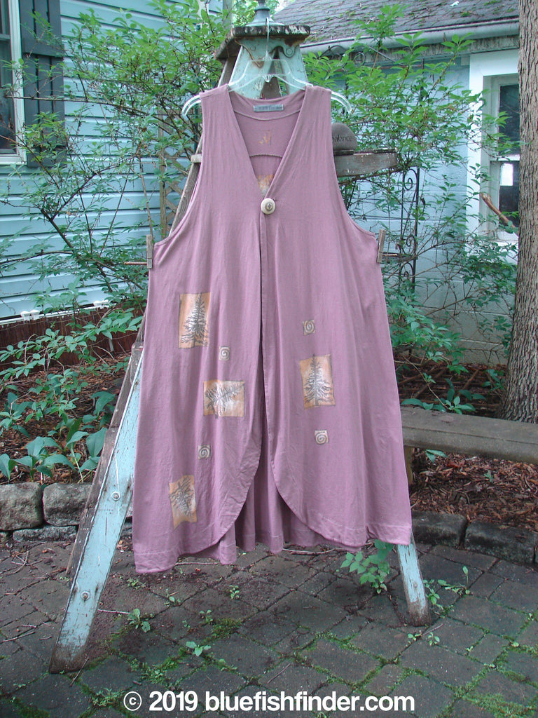 Vintage Blue Fish Clothing 1996 State Fair Vest Pine Twig Laurel Size 1- Bluefishfinder.com