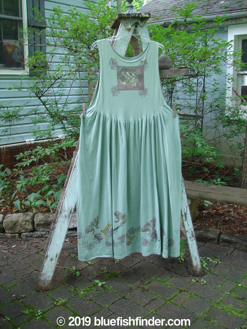 Vintage Blue Fish Clothing 1994 Apron Less Jumper Butterfly Garden River Size 1- Bluefishfinder.com