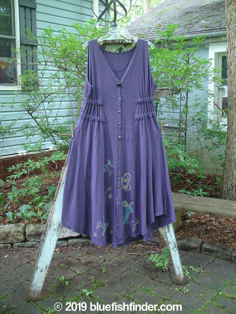 Vintage Blue Fish Clothing 1994 Spin Jumper Mixed Purple Nuit Size 2- Bluefishfinder.com