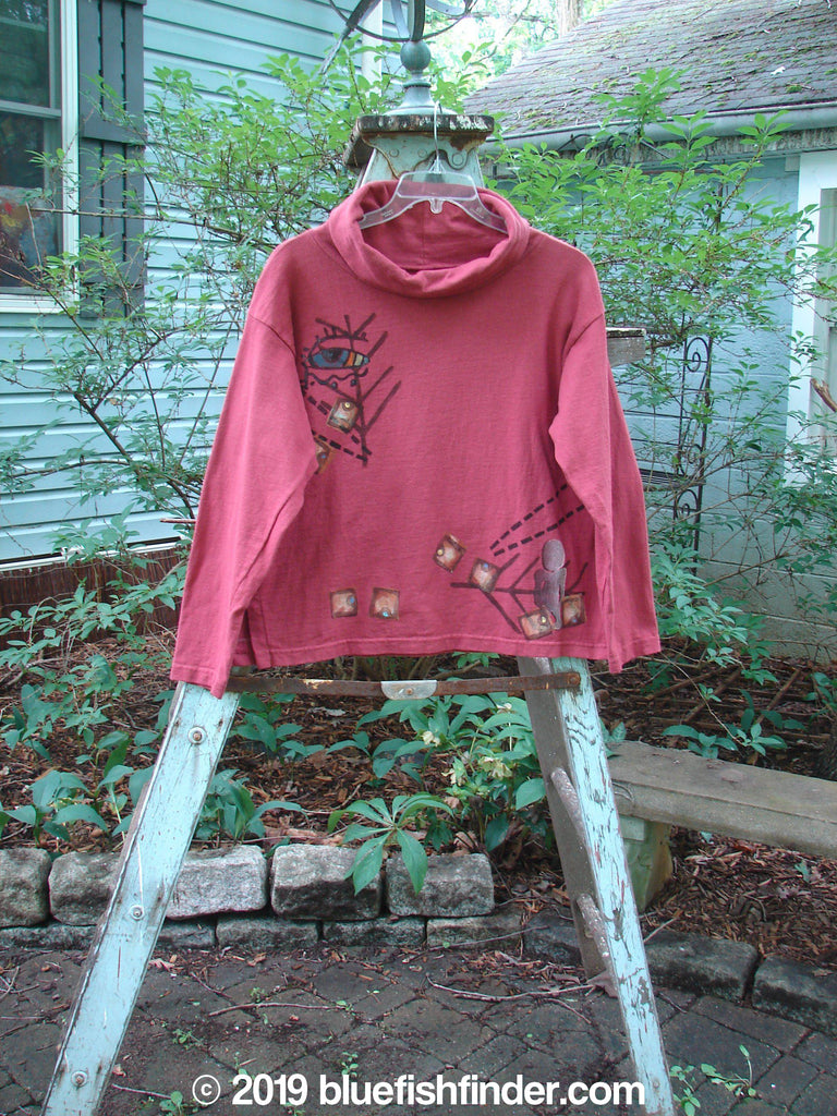 Vintage Blue Fish Clothing 1996 Cowl Neck Top Fall Wood Cassia Size 1- Bluefishfinder.com