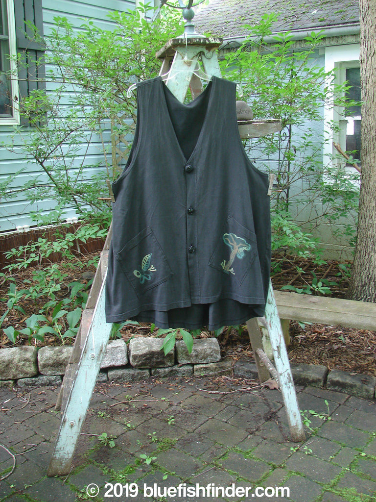 Vintage Blue Fish Clothing 1996 Elements Triangle Vest Obsidian OSFA- Bluefishfinder.com