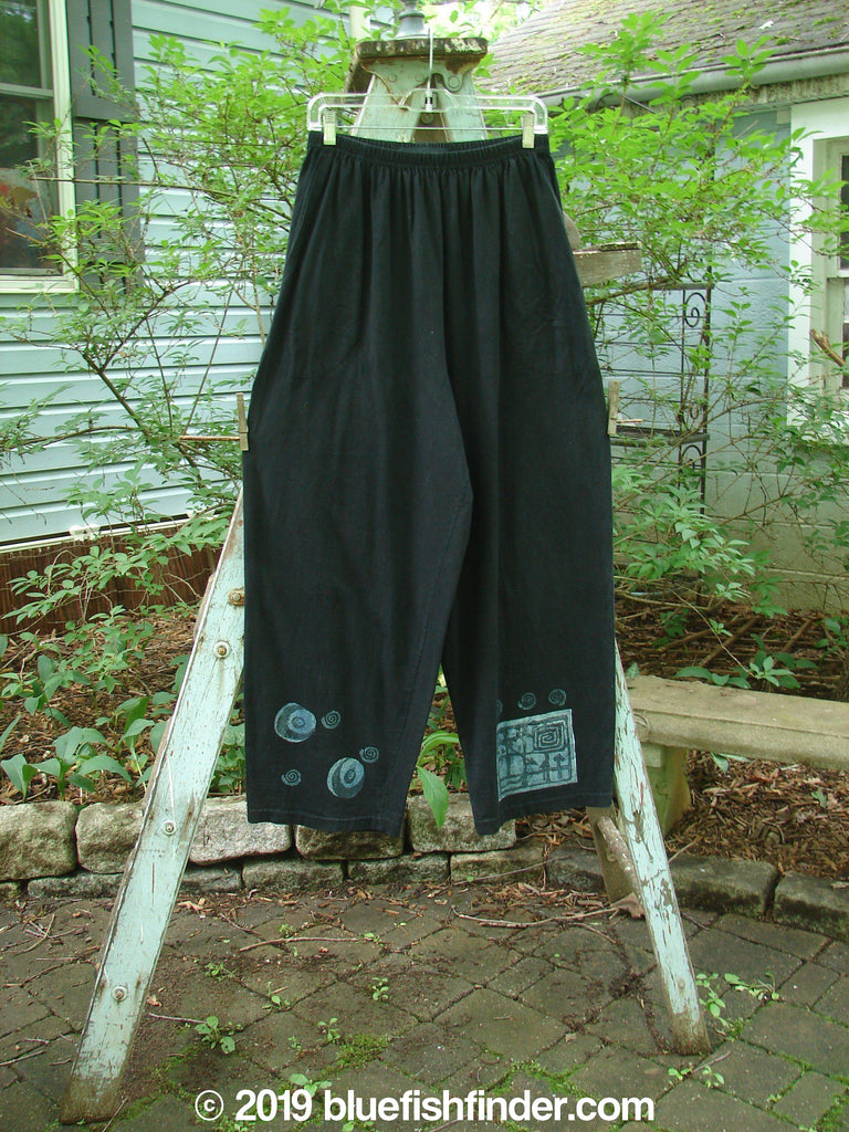 Vintage Blue Fish Clothing 1996 Straight Pant Circle Moon Storm Size 2- Bluefishfinder.com