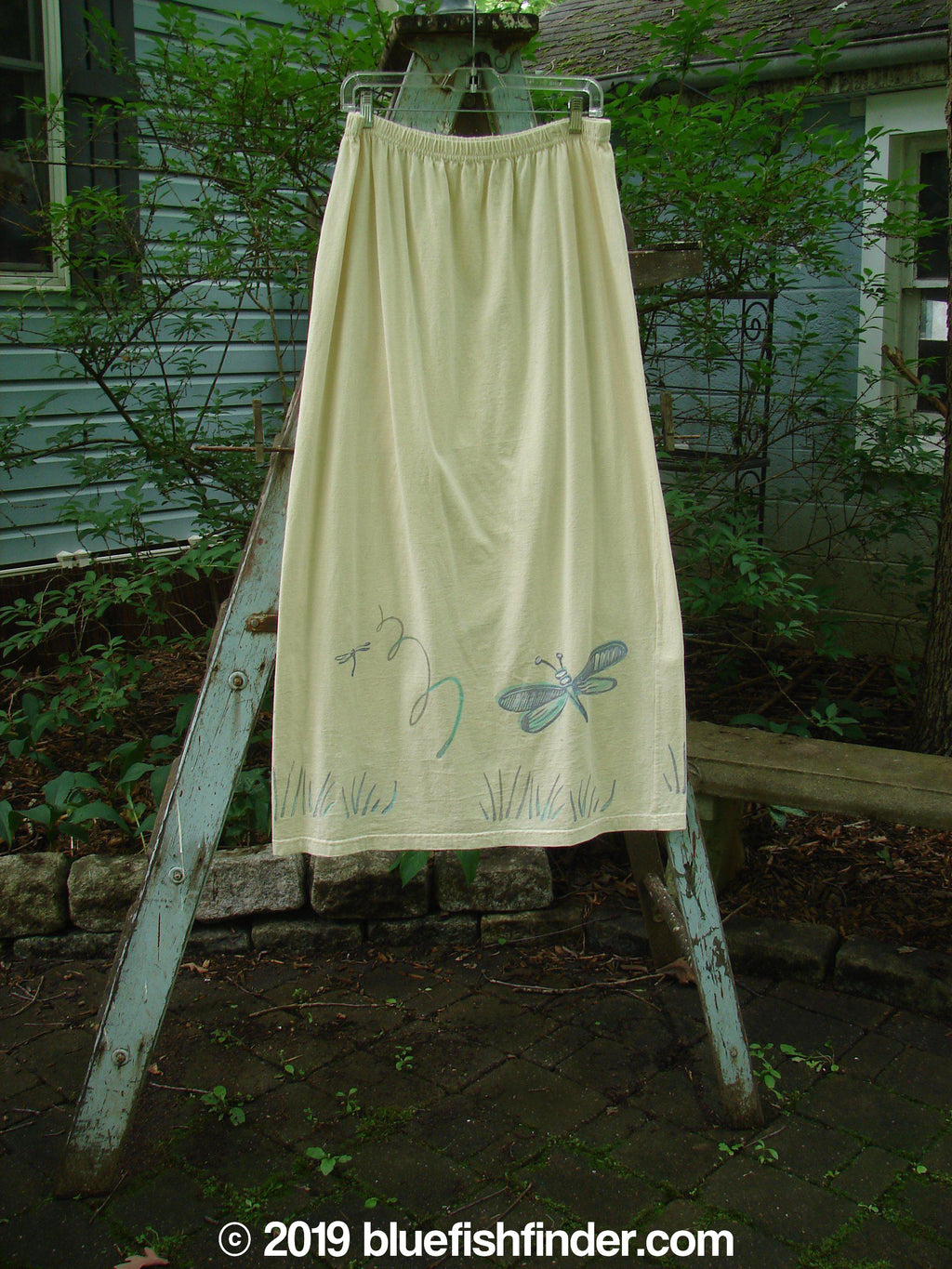 Vintage Blue Fish Clothing 1999 Straight Skirt Dust Dragonfly Size 2- Bluefishfinder.com