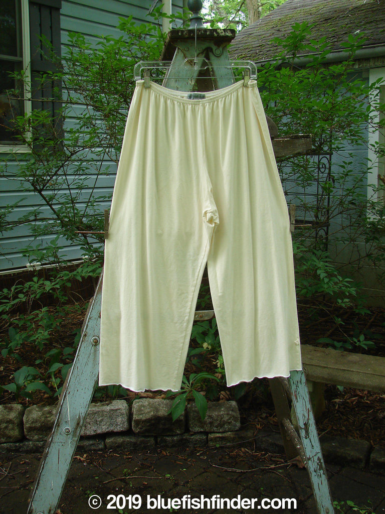 Vintage Blue Fish Clothing Barclay Crop Flair Pull On Pant Creme Size 2- Bluefishfinder.com