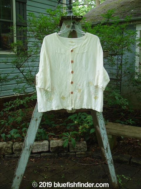 Vintage Blue Fish Clothing 2000 Rodeo Top Diamond Wind White Size 2- Bluefishfinder.com