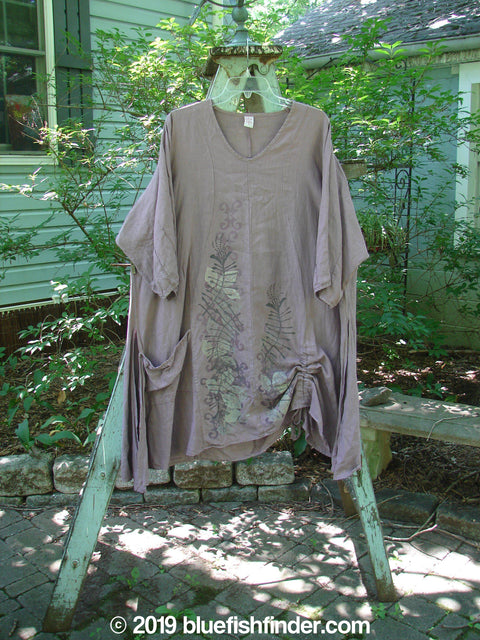 Vintage Blue Fish Clothing Barclay Venetian Pocket Tunic Bloom Flint Size 1- Bluefishfinder.com