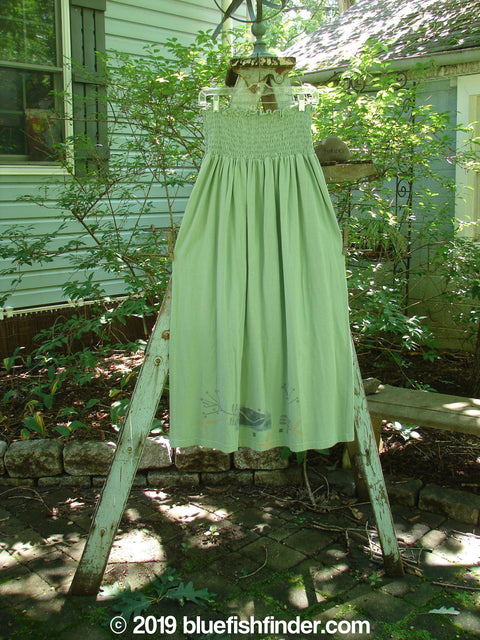 Vintage Blue Fish Clothing 1995 Smocked Skirt Vase Dinette Green Size 2- Bluefishfinder.com